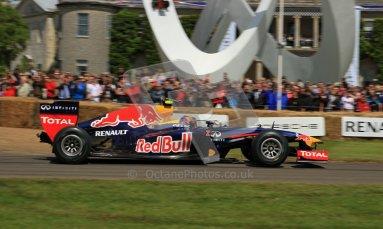 © 2012 Octane Photographic Ltd/ Carl Jones. Mark Webber, Red Bull Racing RB6, Goodwood Festival of Speed. Digital Ref: