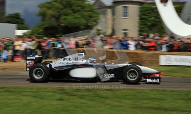 © 2012 Octane Photographic Ltd/ Carl Jones. Nick Heidfeld, McLaren MP4-13, Goodwood Festival of Speed. Digital Ref: