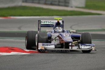 © Octane Photographic Ltd. GP2 Autumn Test – Circuit de Catalunya – Barcelona. Tuesday 30th October 2012 Afternoon session - Trident Racing - Julian Leal. Digital Ref : 0552lw7d0787