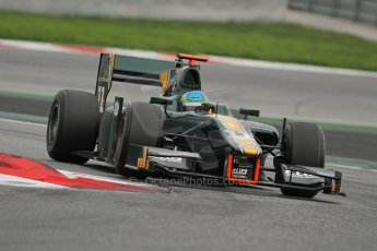 © Octane Photographic Ltd. GP2 Autumn Test – Circuit de Catalunya – Barcelona. Tuesday 30th October 2012 Afternoon session - Caterham Racing - Lucas Foresti. Digital Ref : 0552lw7d0819