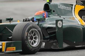 © Octane Photographic Ltd. GP2 Autumn Test – Circuit de Catalunya – Barcelona. Tuesday 30th October 2012 Afternoon session - Caterham Racing - Alexander Rossi. Digital Ref : 0552lw7d1046