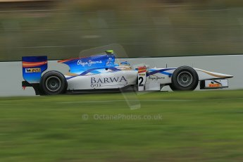 © Octane Photographic Ltd. GP2 Autumn Test – Circuit de Catalunya – Barcelona. Tuesday 30th October 2012 Morning session - Barwa Addax Team - Adrian Quaife-Hobbs. Digital Ref : 0551cb1d6152