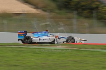 © Octane Photographic Ltd. GP2 Autumn Test – Circuit de Catalunya – Barcelona. Tuesday 30th October 2012 Morning session - Barwa Addax Team - Mike Rosenzweig. Digital Ref : 0551lw7d0205