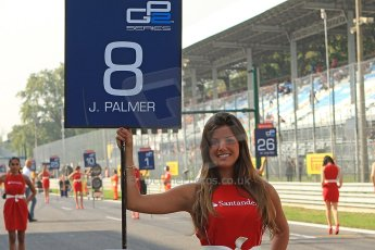 (c) World Copyright www.octanephotos.co.uk 2012 Monza GP2 Sprint Race - Jolyon Palmer takes 3rd place on the poduim.
