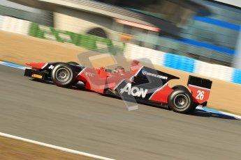 © Octane Photographic Ltd. GP2 Winter testing Jerez Day 1, Tuesday 28th February 2012. Marussia Carlin, Max Chilton. Digital Ref :