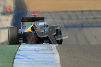 © Octane Photographic Ltd. GP2 Winter testing Jerez Day 1, Tuesday 28th February 2012. Caterham Racing, Rodolfo Gonzales. Digital Ref :