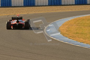 © Octane Photographic Ltd. GP2 Winter testing Jerez Day 1, Tuesday 28th February 2012. Marussia Carlin, Max Chilton. Digital Ref :