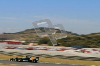© Octane Photographic Ltd. GP2 Winter testing Jerez Day 1, Tuesday 28th February 2012. Caterham Racing, Rodolfo Gonzales. Digital Ref :