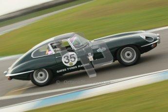 © Octane Photographic Ltd. HSCC Donington Park 17th March 2012. 70's Road Sports Championship. Robert Gate - Jaguar E Type. Digital ref : 0239cb1d6487