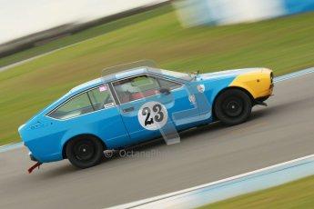 © Octane Photographic Ltd. HSCC Donington Park 17th March 2012. 70's Road Sports Championship. Will Morton - Alfa Romeo 2000 GTV. Digital ref : 0239cb1d6493