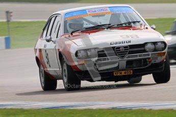 © Octane Photographic Ltd. HSCC Donington Park 17th March 2012. 70's Road Sports Championship. Bob Trotter - Alfa Romeo 2000 GTV. Digital ref : 0239cb7d3590