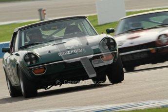 © Octane Photographic Ltd. HSCC Donington Park 17th March 2012. 70's Road Sports Championship. Robert Barter - Jensen Healey.  Digital ref : 0239cb7d3633