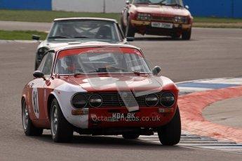 © Octane Photographic Ltd. HSCC Donington Park 17th March 2012. 70's Road Sports Championship. John Dobson - Alfa Romeo 2000 GTV. Digital ref : 0239lw7d3732