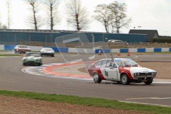 © Octane Photographic Ltd. HSCC Donington Park 17th March 2012. 70's Road Sports Championship. Bob Trotter - Alfa Romeo 2000 GTV. Digital ref : 0239lw7d4109