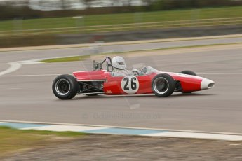 © Octane Photographic Ltd. HSCC Donington Park 17th March 2012. Classic Racing Cars. Steve Seaman - Brabham BT21. Digital ref : 0244cb1d7769