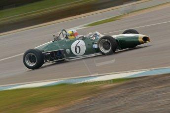 © Octane Photographic Ltd. HSCC Donington Park 17th March 2012. Classic Racing Cars. Leif Bosson - Brabham BT28. Digital ref : 0244cb1d7800