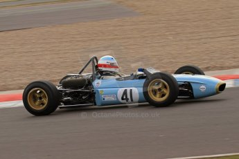 © Octane Photographic Ltd. HSCC Donington Park 17th March 2012. Classic Racing Cars. Peter Hamilton - Tecno. Digital ref : 0244lw7d7749