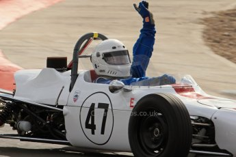 © Octane Photographic Ltd. HSCC Donington Park 17th March 2012. Classic Racing Cars. John Moulds - Crossle 20F. Digital ref : 0244lw7d7831