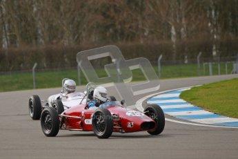 © Octane Photographic Ltd. HSCC Donington Park 17th March 2012. Historic Formula Junior Championship (Rear engine).. Charles Cook - Envoy. Digital ref : 0243cb1d7381