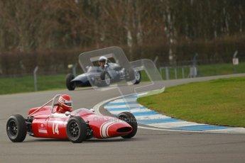 © Octane Photographic Ltd. HSCC Donington Park 17th March 2012. Historic Formula Junior Championship (Rear engine).. Rudolf Ernst - Lotus 22. Digital ref : 0243cb1d7393