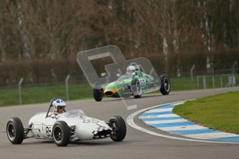 © Octane Photographic Ltd. HSCC Donington Park 17th March 2012. Historic Formula Junior Championship (Rear engine).. John Chisholm - Gemini Mk 3A. Digital ref : 0243cb1d7404