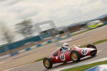 © Octane Photographic Ltd. HSCC Donington Park 17th March 2012. Historic Formula Junior Championship (Rear engine).. Mike Gregory - De Tomaso ISIS. Digital ref : 0243cb1d7461