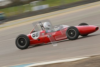 © Octane Photographic Ltd. HSCC Donington Park 17th March 2012. Historic Formula Junior Championship (Rear engine).. Lance Whitehead - Lotus 20. Digital ref : 0243cb1d7506