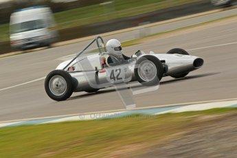 © Octane Photographic Ltd. HSCC Donington Park 17th March 2012. Historic Formula Junior Championship (Rear engine).. Chris Wilks - Deep Sanderson DS104. Digital ref : 0243cb1d7532