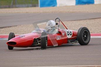 © Octane Photographic Ltd. HSCC Donington Park 17th March 2012. Historic Formula Junior Championship (Rear engine).. Lance Whitehead - Lotus 20.Digital ref : 0243cb1d7693