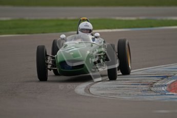 © Octane Photographic Ltd. HSCC Donington Park 17th March 2012. Historic Formula Junior Championship (Rear engine).. Robert Barrie - Lotus 18. Digital ref : 0243cb7d4544