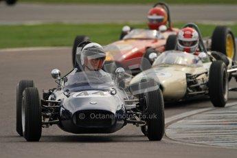 © Octane Photographic Ltd. HSCC Donington Park 17th March 2012. Historic Formula Junior Championship (Rear engine).. Andrew Robertson - Crossle 4F.  Digital ref : 0243cb7d4573