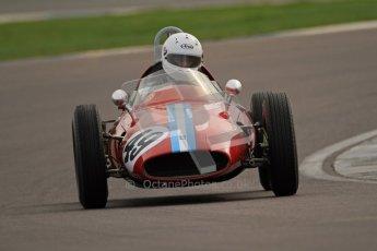 © Octane Photographic Ltd. HSCC Donington Park 17th March 2012. Historic Formula Junior Championship (Rear engine).. Mike Gregory - De Tomaso ISIS. Digital ref : 0243cb7d4649