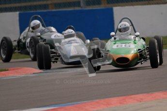 © Octane Photographic Ltd. HSCC Donington Park 17th March 2012. Historic Formula Junior Championship (Rear engine).. Alex Morton - Ausper T3. Digital ref : 0243cb7d4699