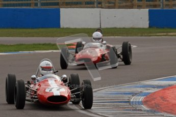 © Octane Photographic Ltd. HSCC Donington Park 17th March 2012. Historic Formula Junior Championship (Rear engine).. Steven Smith - Cooper T59. Digital ref : 0243lw7d6530