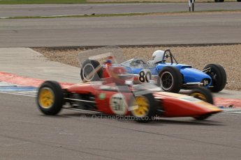 © Octane Photographic Ltd. HSCC Donington Park 17th March 2012. Historic Formula Junior Championship (Rear engine).. John Sykes - Merlyn Mk5/7. Digital ref : 0243lw7d7163