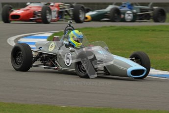 © Octane Photographic Ltd. HSCC Donington Park 17th March 2012. Historic Formula Ford Championship. John Farrell - Merlyn Mk.IIA. Digital ref : 0240lw7d4306