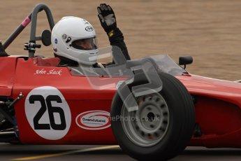 © Octane Photographic Ltd. HSCC Donington Park 17th March 2012. Historic Formula Ford Championship. John Slack - Lola T200. Digital ref : 0240lw7d4426