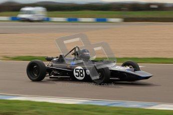 © Octane Photographic Ltd. HSCC Donington Park 17th March 2012. Historic Formula Ford Championship. John Crowell - Elden Mk8. Digital ref : 0240lw7d4755