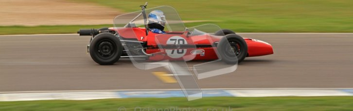 © Octane Photographic Ltd. HSCC Donington Park 17th March 2012. Historic Formula Ford Championship. Simon Baines - Merlyn Mk20. Digital ref : 0240lw7d4994