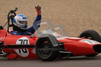 © Octane Photographic Ltd. HSCC Donington Park 17th March 2012. Historic Formula Ford Championship. Simon Baines - Merlyn Mk20. Digital ref : 0240lw7d5101