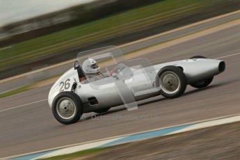© Octane Photographic Ltd. HSCC Donington Park 17th March 2012. Historic Formula Junior Championship (Front engine). Roger Dexter - Gemini Mkii. Digital ref : 0241cb1d7004