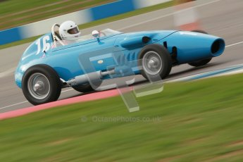 © Octane Photographic Ltd. HSCC Donington Park 17th March 2012. Historic Formula Junior Championship (Front engine). Gordon Wright - Stanguellini. Digital ref : 0241cb1d7012