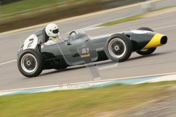 © Octane Photographic Ltd. HSCC Donington Park 17th March 2012. Historic Formula Junior Championship (Front engine). Jack Woodhouse - Elva 100. Digital ref : 0241cb1d7029