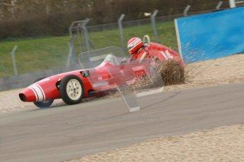 © Octane Photographic Ltd. HSCC Donington Park 17th March 2012. Historic Formula Junior Championship (Front engine). Keith Roach - Condor S2. Digital ref : 0241cb1d7051