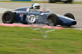 © Octane Photographic Ltd. HSCC Donington Park 17th March 2012. Historic Formula Junior Championship (Front engine). Richard Utley - Caravelle Mk1. Digital ref : 0241cb1d7116