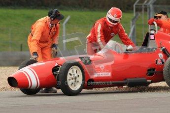 © Octane Photographic Ltd. HSCC Donington Park 17th March 2012. Historic Formula Junior Championship (Front engine). Keith Roach - Condor S2. Digital ref : 0241cb7d3888