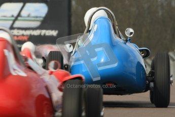 © Octane Photographic Ltd. HSCC Donington Park 17th March 2012. Historic Formula Junior Championship (Front engine). Gordon Wright - Stanguellini. Digital ref : 0241cb7d3912