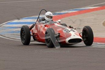 © Octane Photographic Ltd. HSCC Donington Park 17th March 2012. Historic Formula Junior Championship (Front engine). Richard Ellingworth - Gemini Mk2. Digital ref : 0241lw7d5661