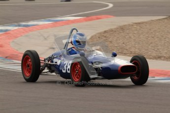 © Octane Photographic Ltd. HSCC Donington Park 17th March 2012. Historic Formula Junior Championship (Front engine). Wyn Lewis - Kieft FJ. Digital ref : 0241lw7d5730