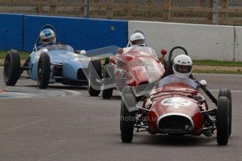 © Octane Photographic Ltd. HSCC Donington Park 17th March 2012. Historic Formula Junior Championship (Front engine). David Bishop - Elva 100. Digital ref : 0241lw7d5739